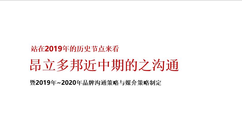 2020昂立多邦保健品品牌策划方案