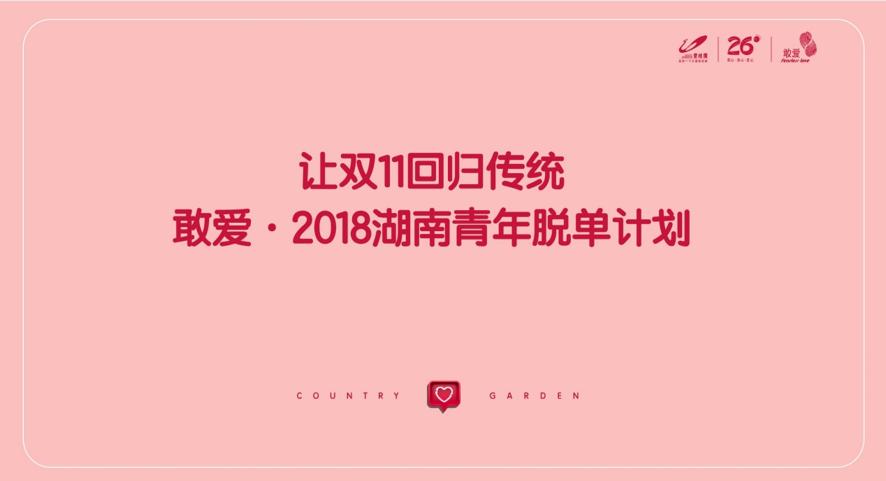 2018碧桂园敢爱·湖南青年脱单计划
