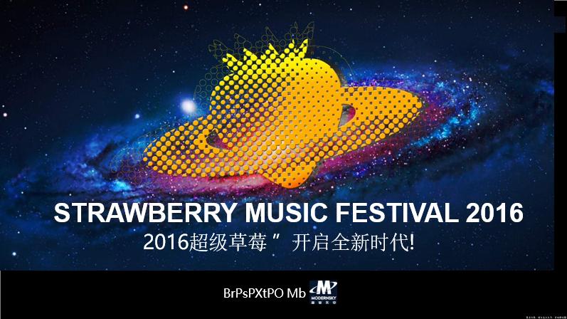 2016草莓音乐节项目策划方案